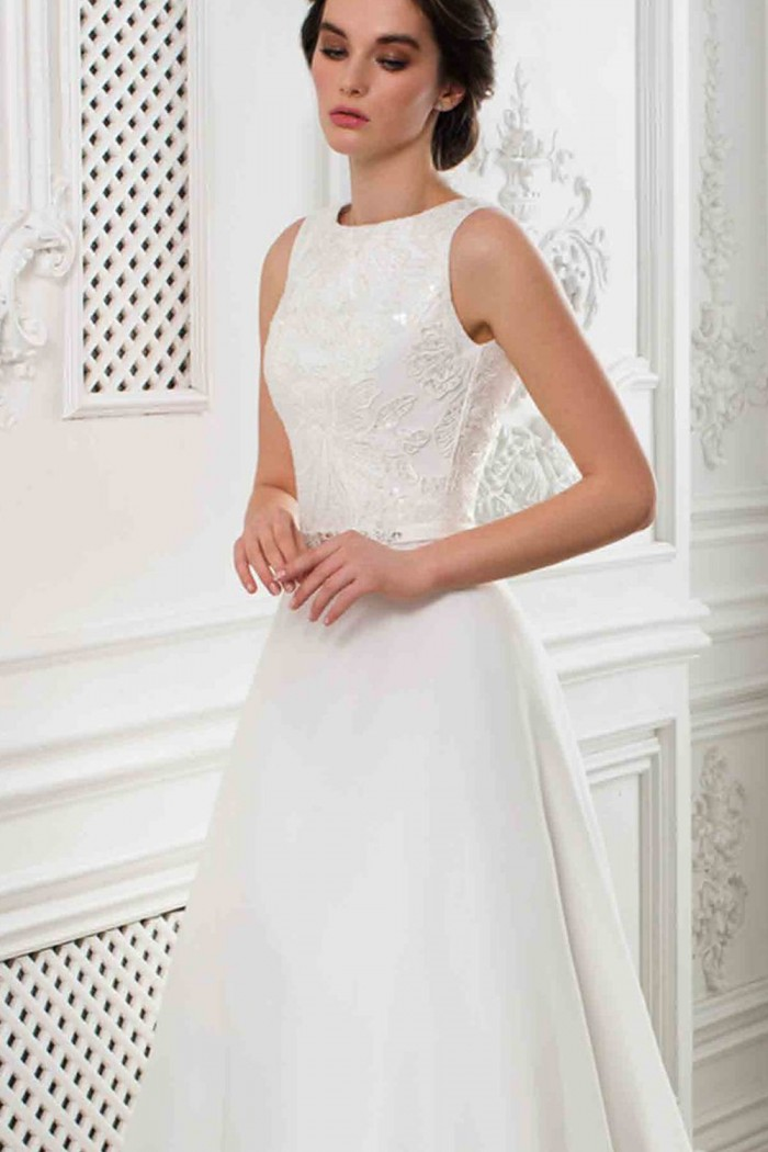 Свадебное платье трансформер со съемной верхней юбкой РАМОЛЛА