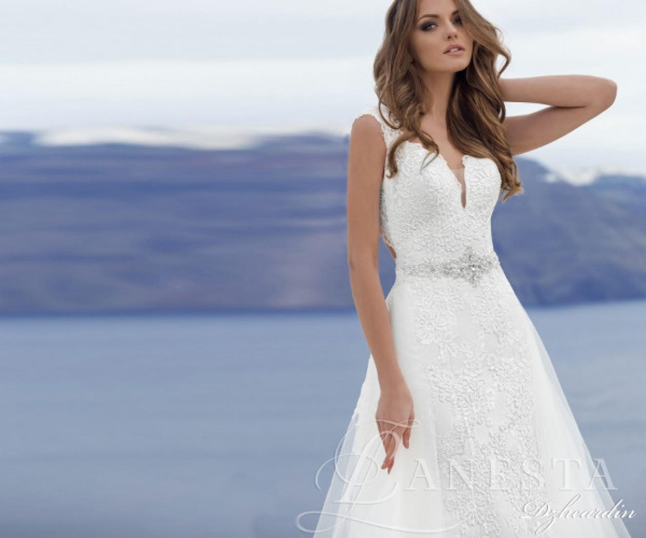 Свадебное платье с открытой спиной ДЖЕАРДИН