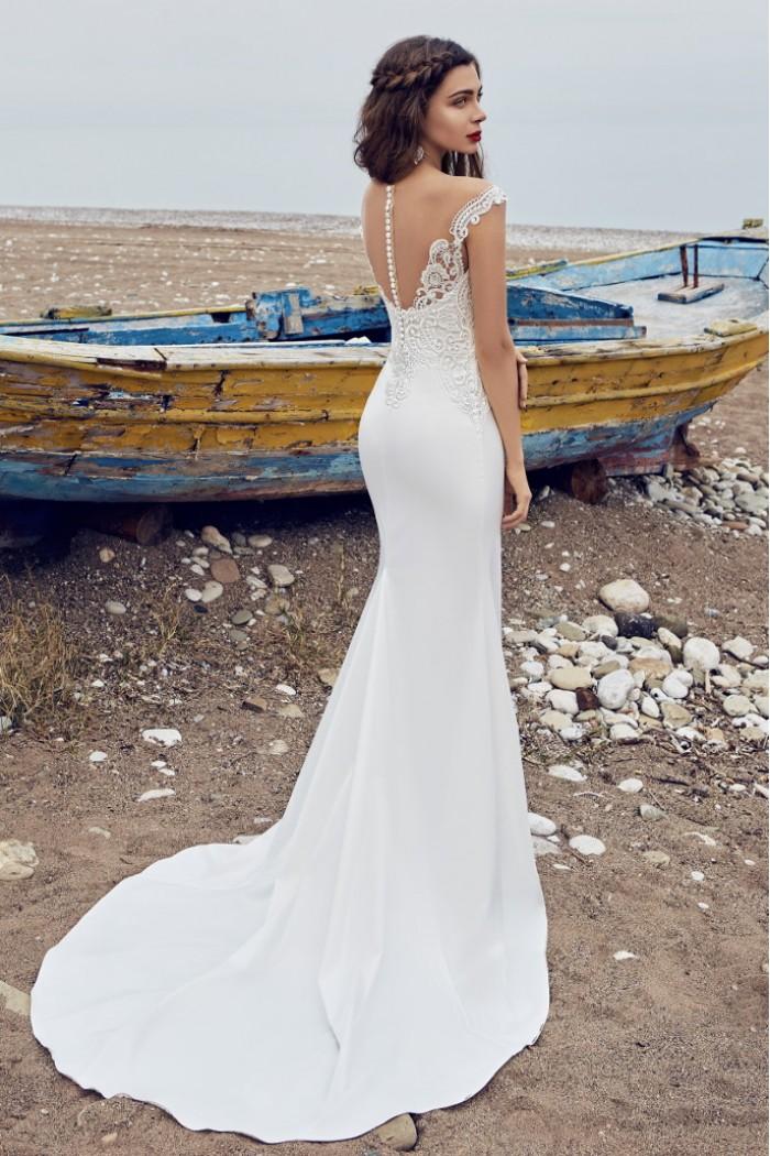 Свадебное платье силуэта русалка со съемной пышной юбкой БИРЮЗА