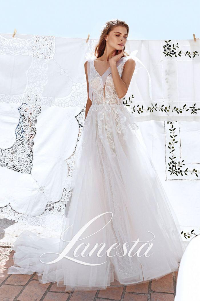 Женственное свадебное платье со сверкающей нижней юбкой ДОМИНИКАНА