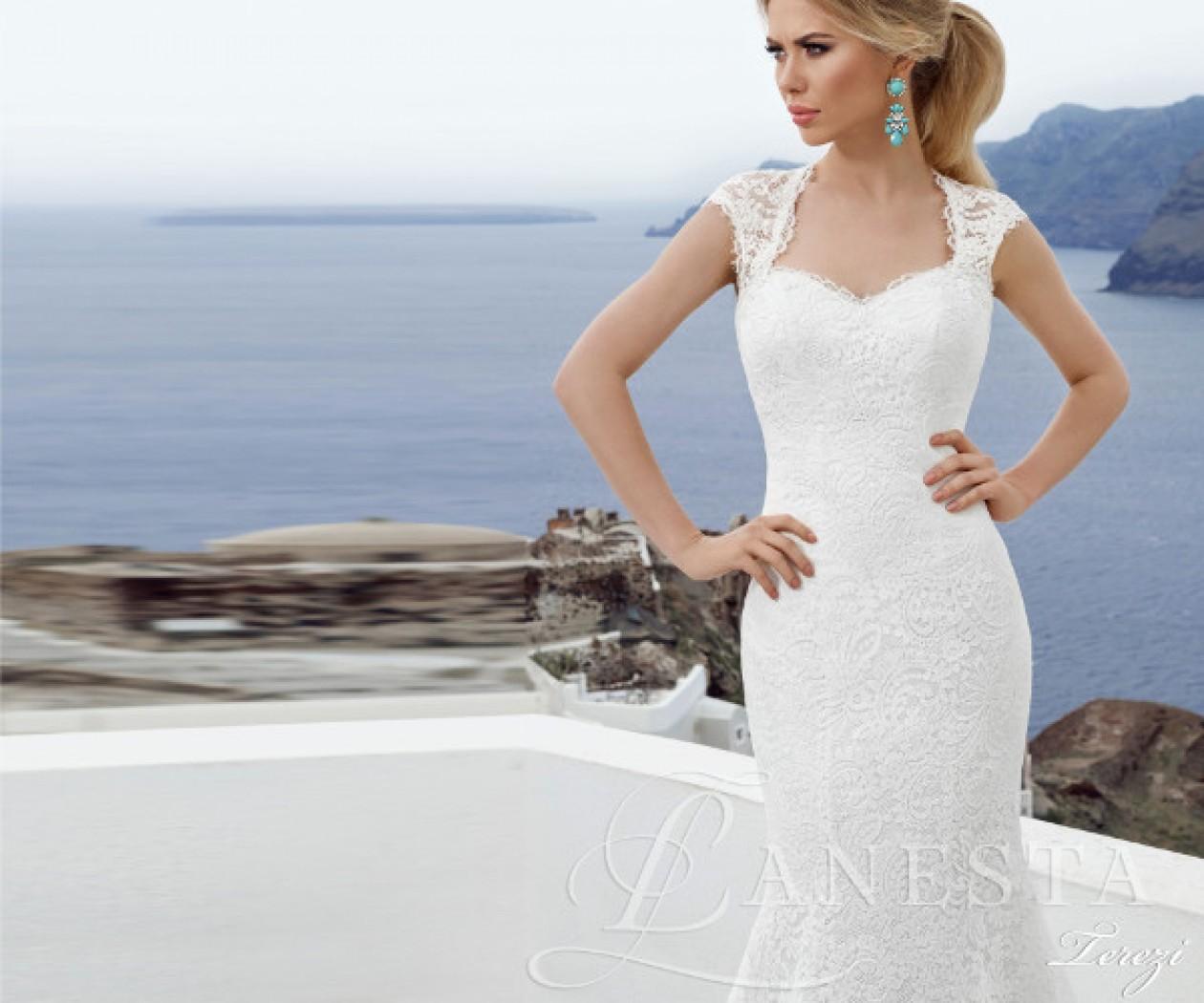 Кружевное свадебное платье с открытой спиной ТЕРЕЗИ