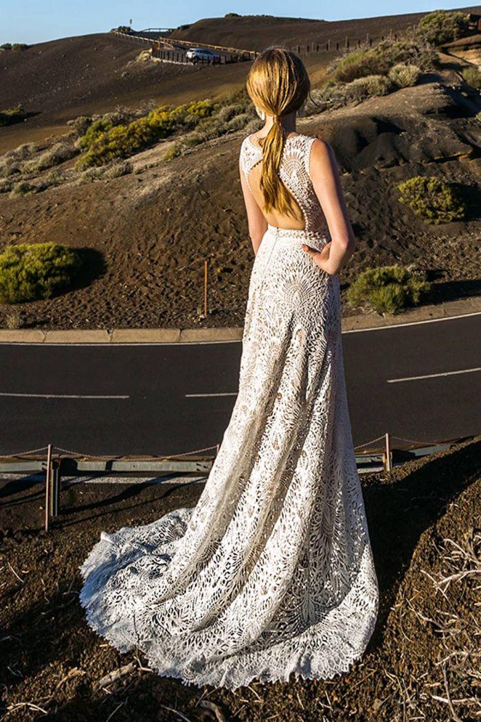 Грациозное свадебное платье из кружева макраме ДЕЙЗИ