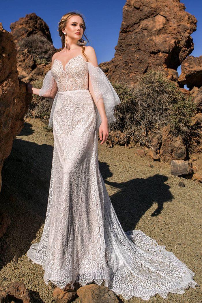 Свадебное платье силуэта рыбка в винтажном стиле МИРЕЛ