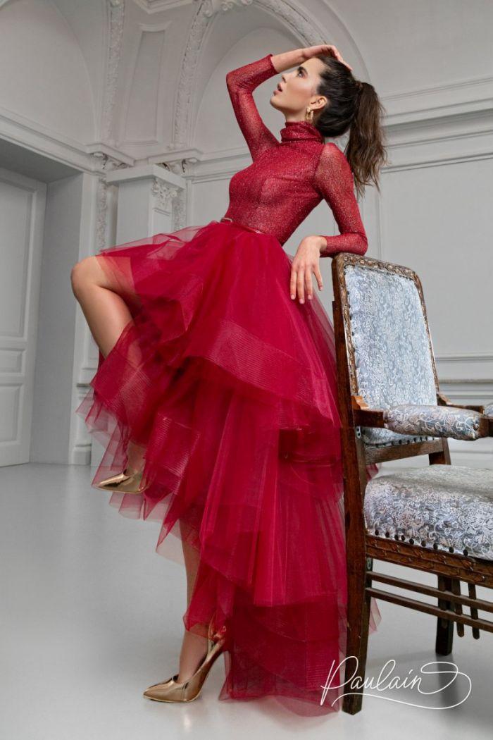 Потрясающее вечернее платье с пышной юбкой переменной длины БЕЙКЕР