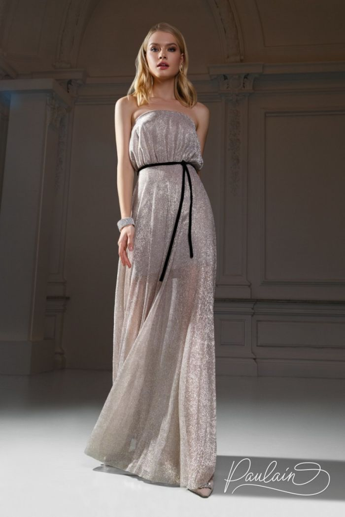 Открытое вечернее платье для романтичного образа юной богини МАРУФ Макси