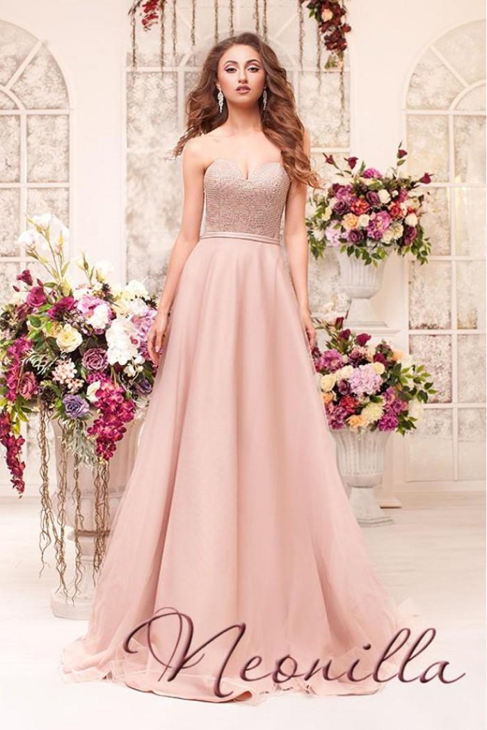 Длинное вечернее платье с расшитым корсетом ВЕРОНИКА