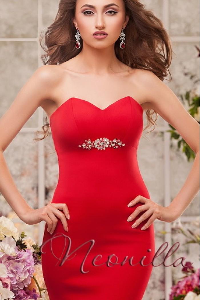 Яркое и женственное вечернее платье красного цвета ВИОЛА