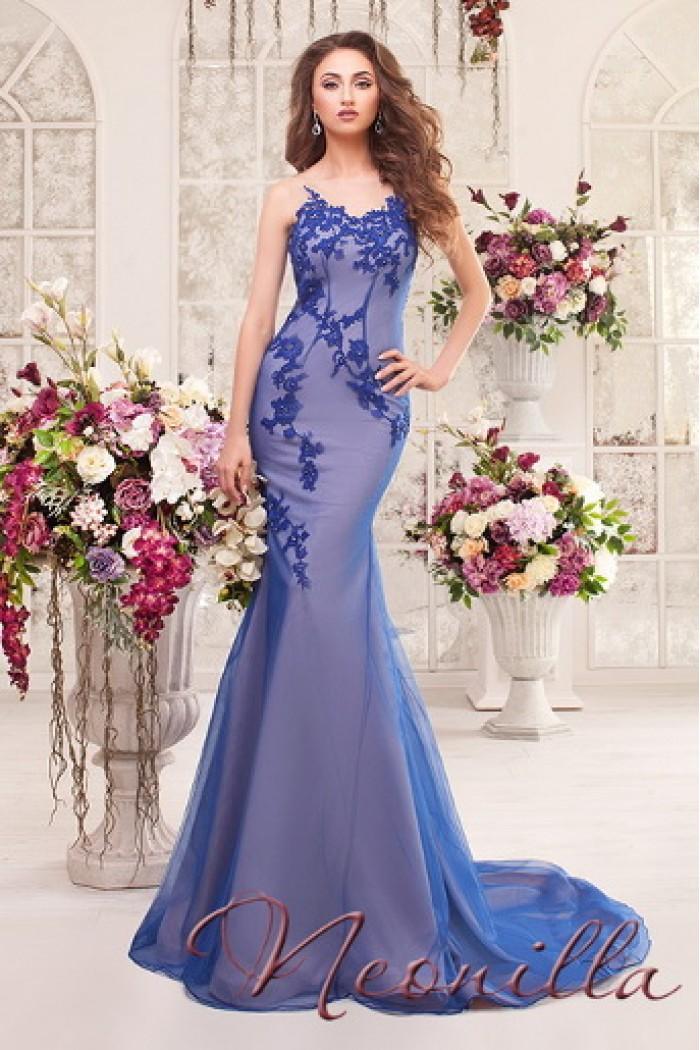 Восхитительное вечернее платье сложного цвета в стиле русалки ВИТАЛИНА