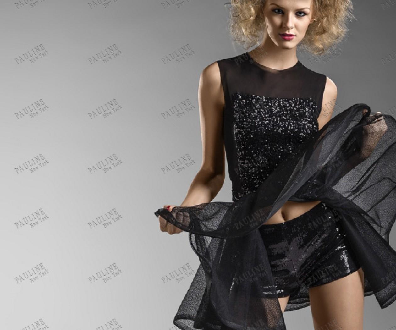 Короткое вечернее платье с шортами ДАКОТА