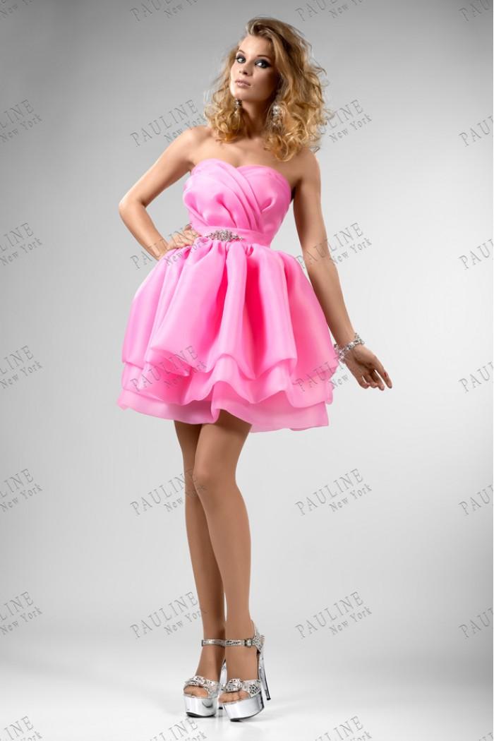 Романтичное розовое вечернее платье ТРАЙБЕКА Блумм