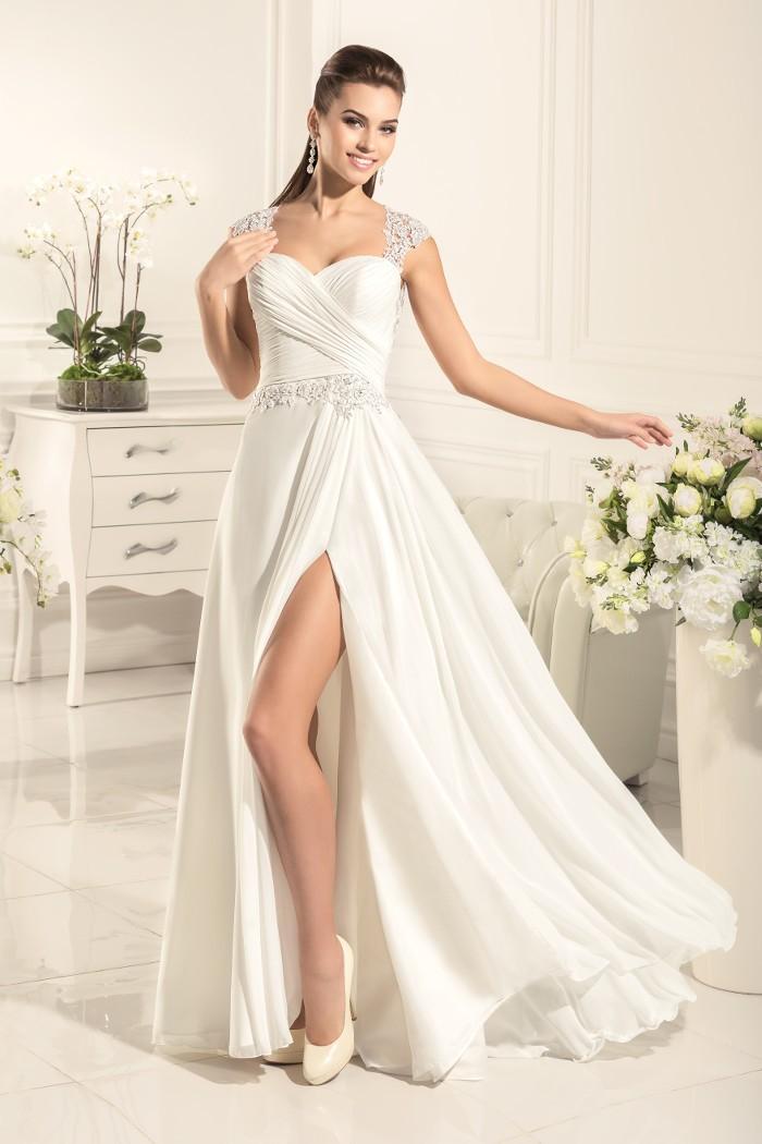 Свадебное латье в греческом стиле для свадьбы у моря ЭНЖИ