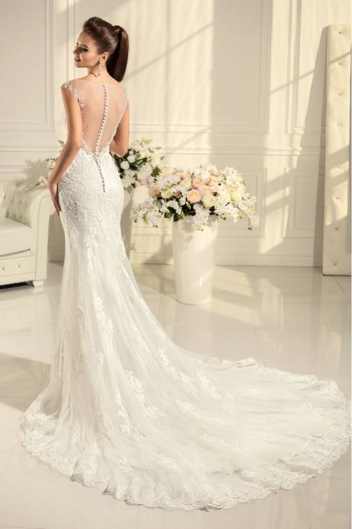 Яркое и сексуальное кружевное свадебное платье  АРИЕЛЬ