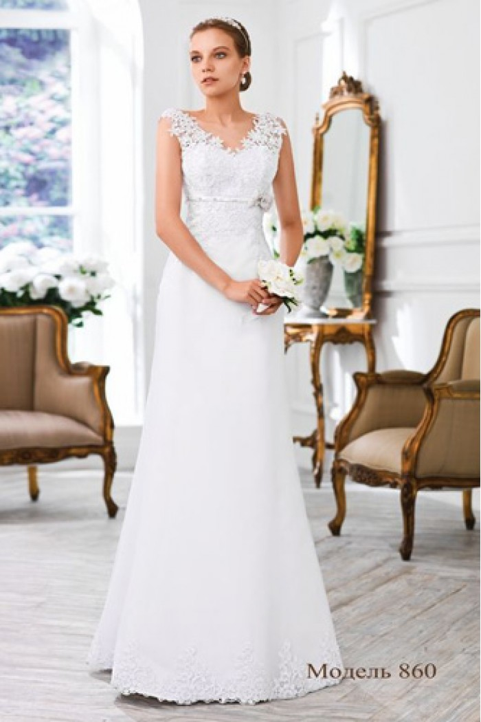 Прямое свадебное платье с кружевом Olga Sposa