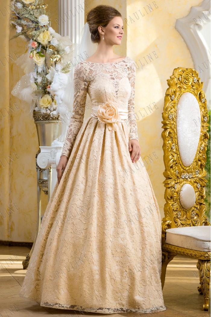 Кружевное свадебное платье с рукавом ДАЛИ Джент