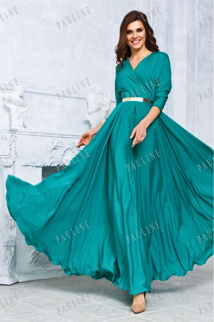 Длинное вечернее платье с летящей юбкой КУБА