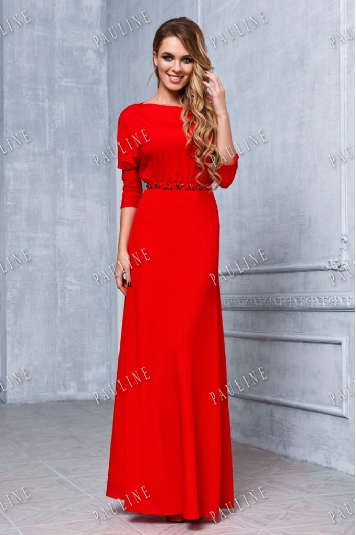 Восхитительное длинное вечернее платье элегантного силуэта ЭРИКА ПРЕМИУМ