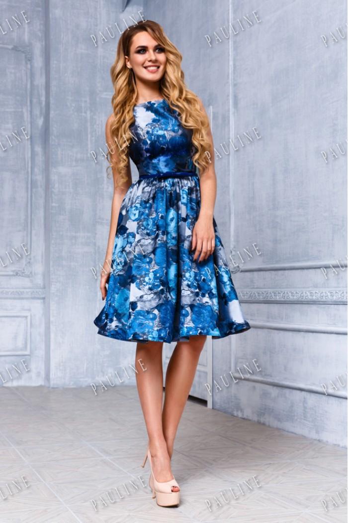 Романтичное вечернее платье с цветочным рисунком ФЬЕР КЛАССИК