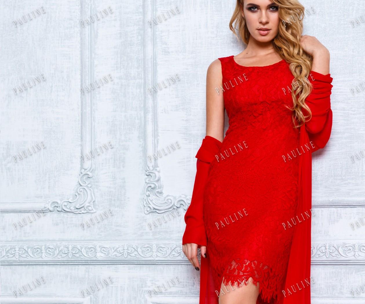 Вечернее платье-комбинация и тонкая жоржетная накидка ФРАНЧИ