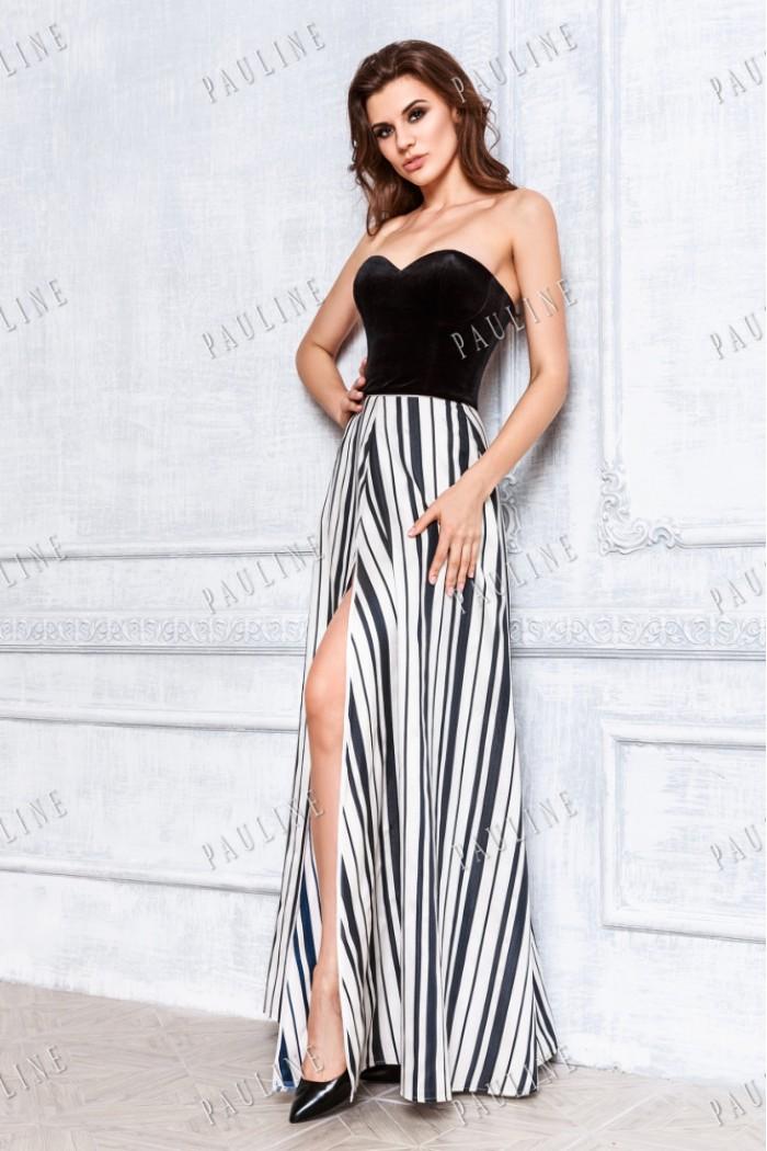 Эффектное вечернее платье с корсетом ГРАФИКА