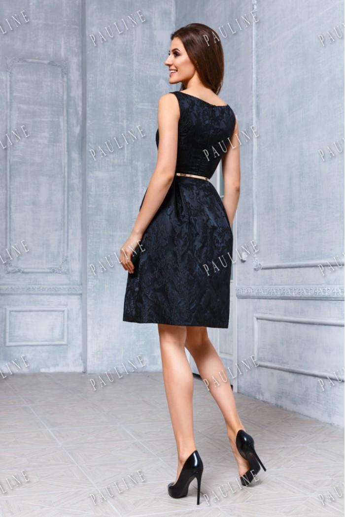 Коктейльное вечернее платье из жаккарда ХЕПБЕРН