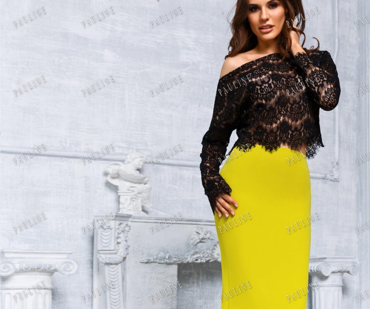 Дизайнерское вечернее платье с кружевом ДЖОЛИ