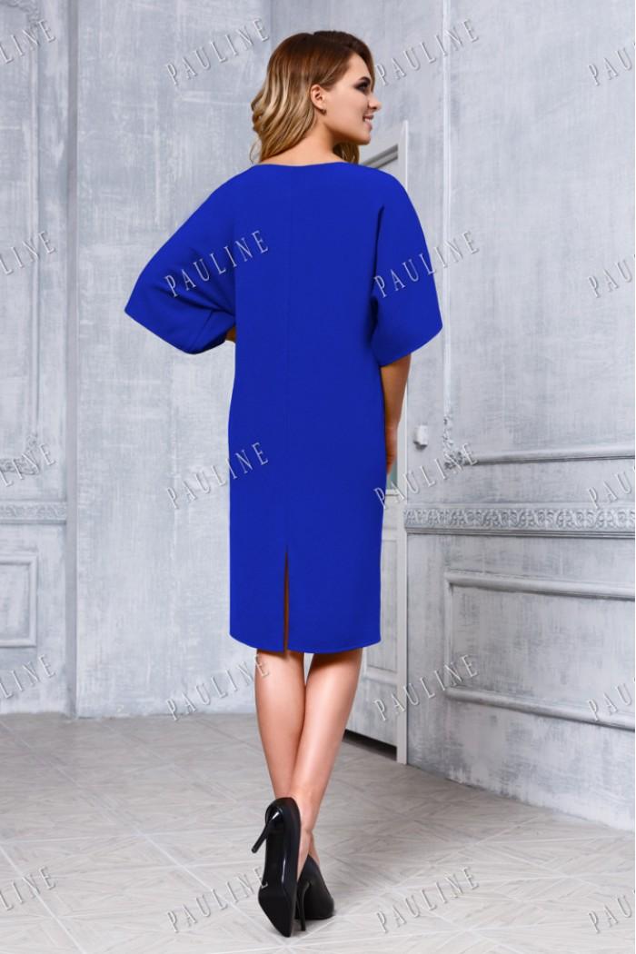 Дизайнерское короткое вечернее платье с рукавом ДЖОНС