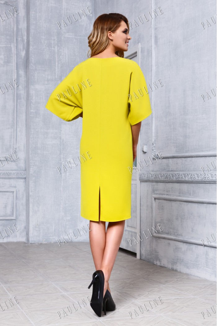 Модное силуэтное вечернее платье с рукавом ДЖОНС