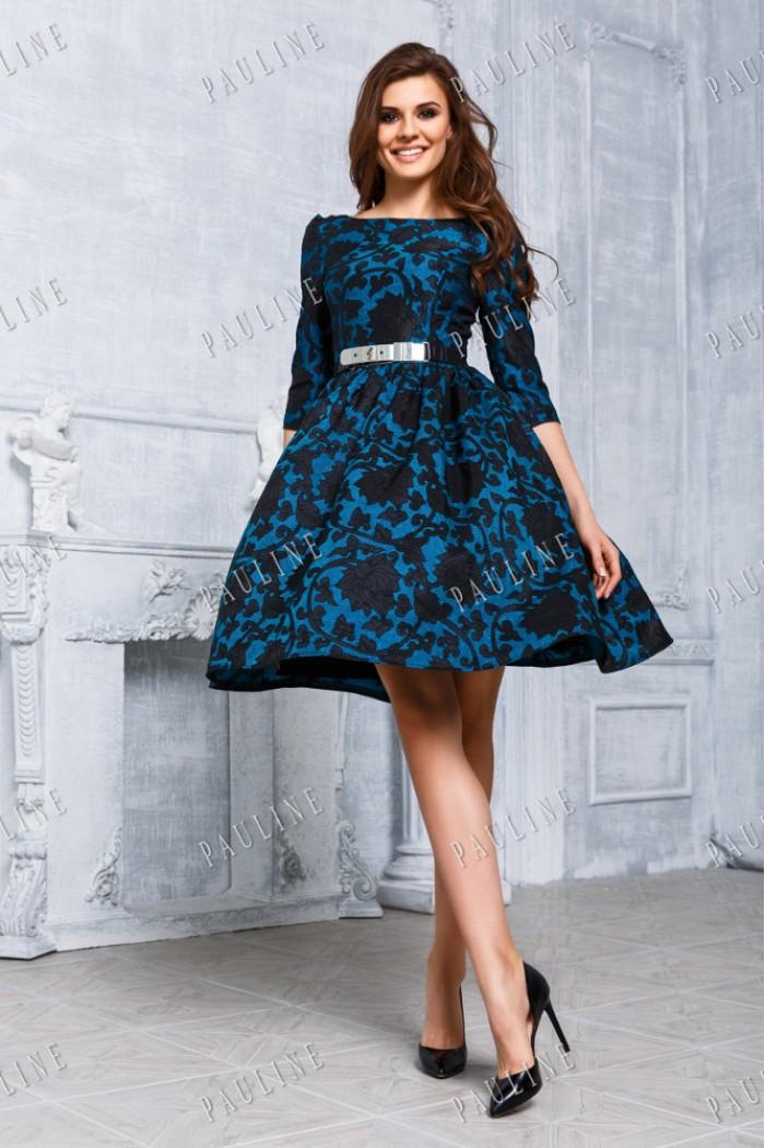 Женственное вечернее платье с тонкой талией НОРА