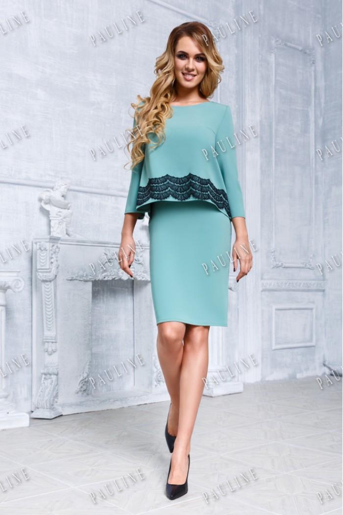 Блуза и короткая юбка - элегантный комплект РИНА