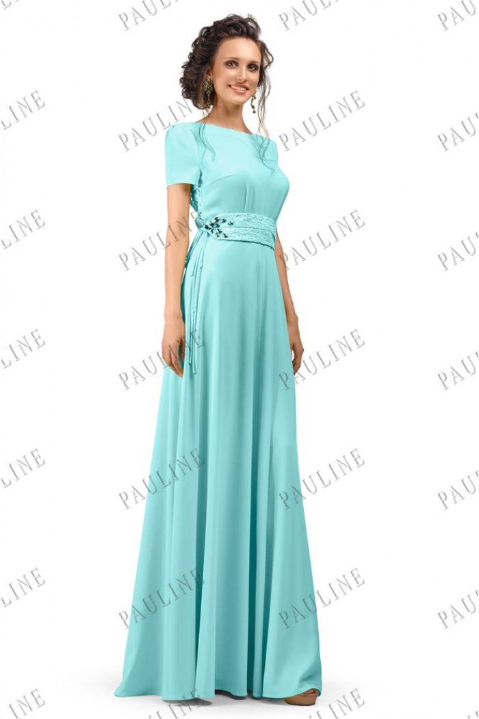 Платья классика голубые
