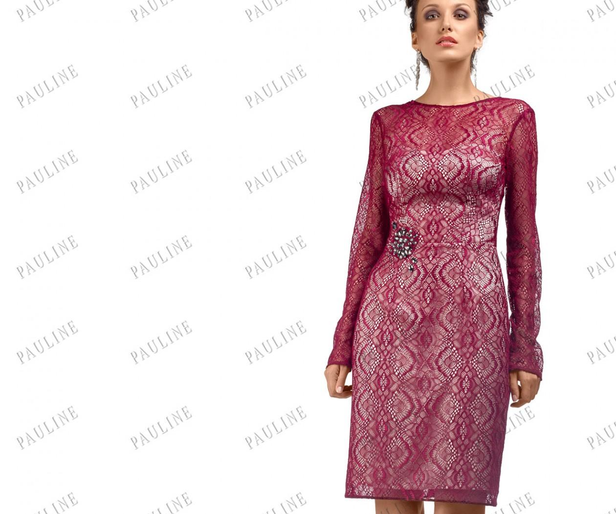 Кружевное короткое вечернее платье ПАЛЬМЕТТА