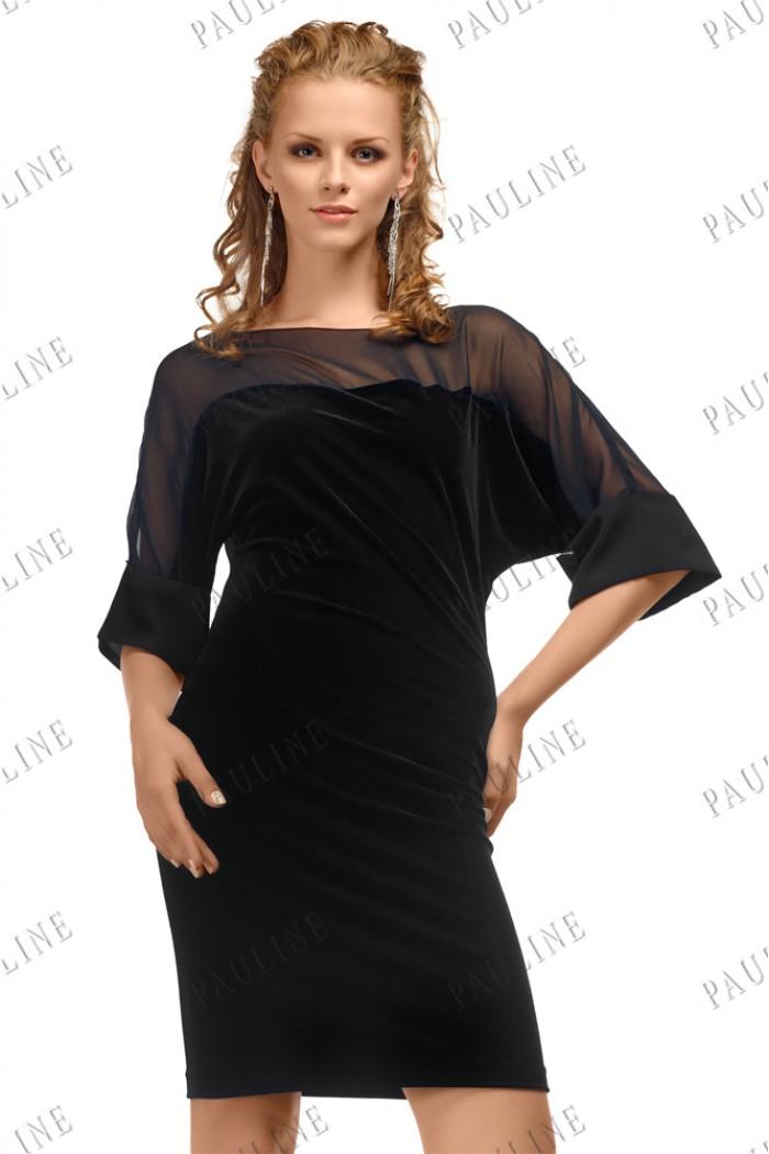 Короткое платье из бархата РИМ