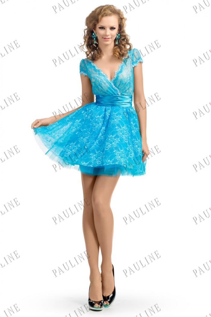 Короткое вечернее платье с пышной юбкой БАРБИ