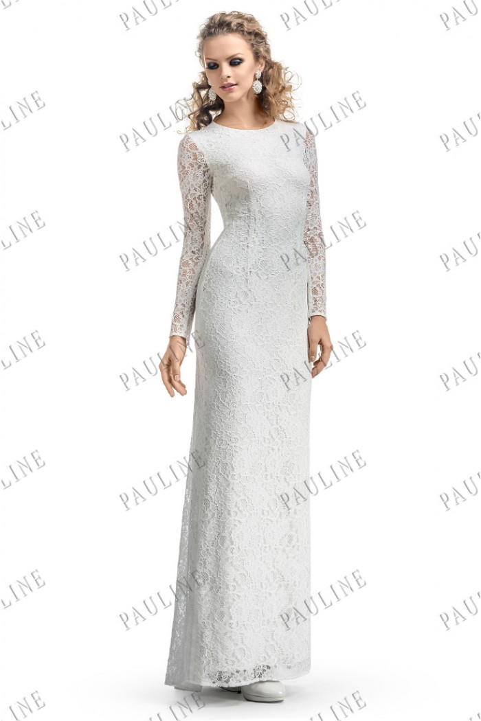 Длинное кружевное вечернее платье БОТЬЕ Макси