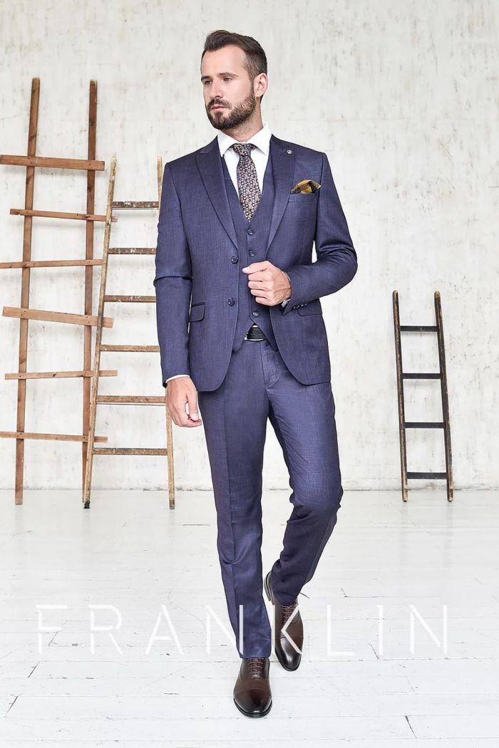 Элегантный мужской смокинг фиолетового цвета STEWART PLUM