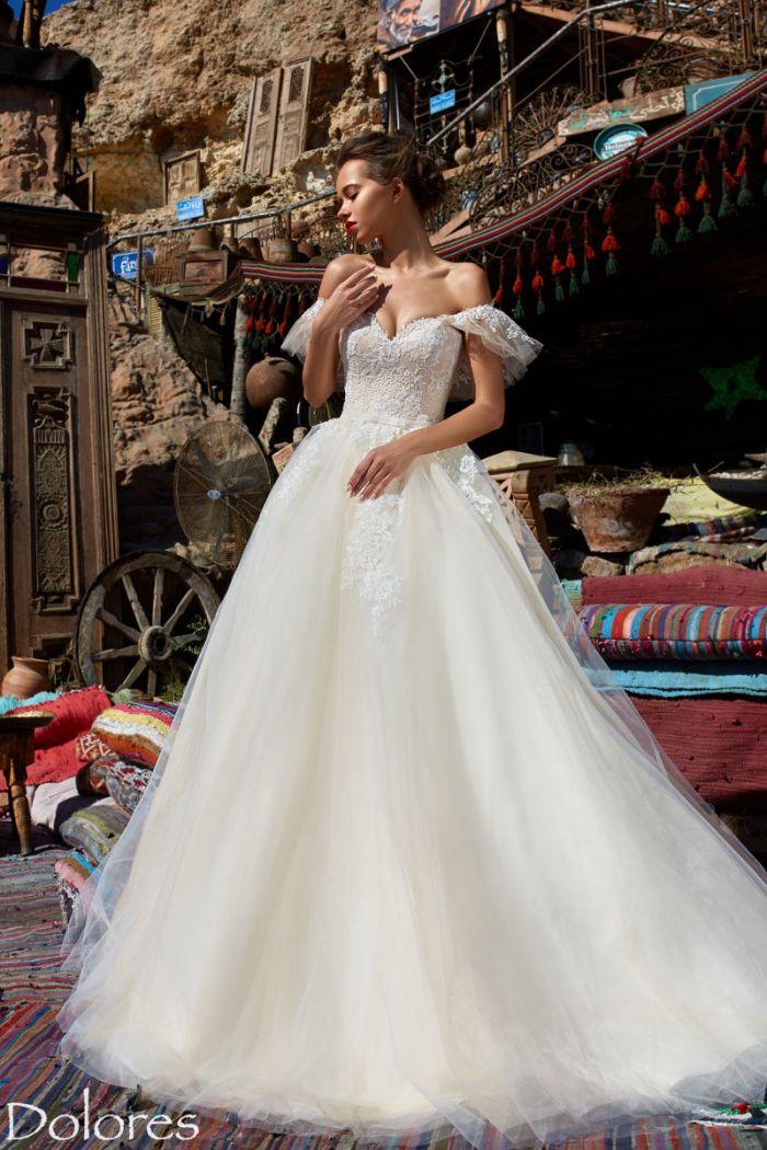 Пышное свадебное платье с ультрамодной вышивкой ДОЛОРЕС