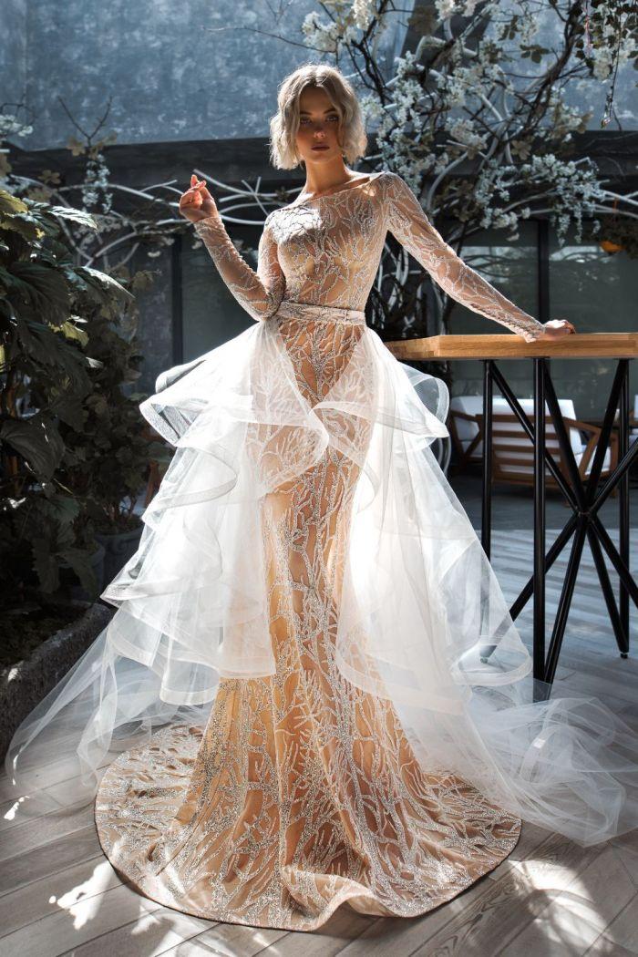 Необычное свадебное платье трансформер СЭРА