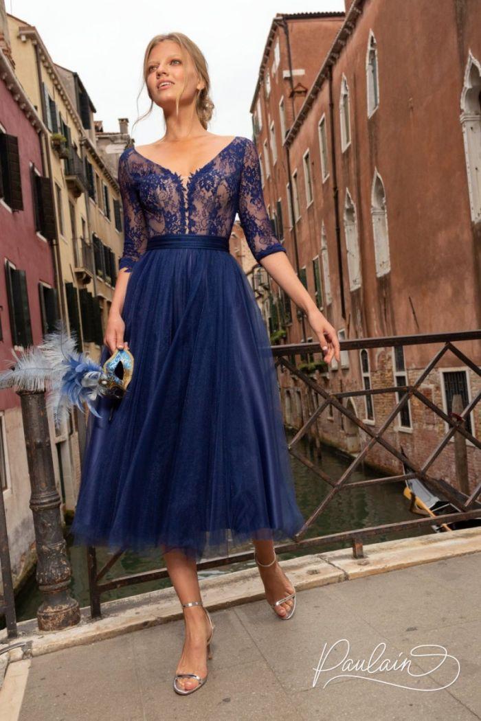 Очаровательное вечернее платье из тончайшего кружева и легкого фатина КОНСУЭЛО