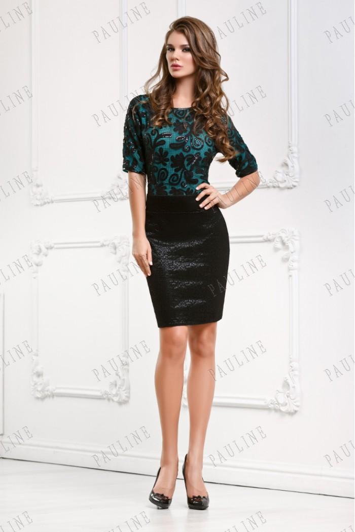 Коктейльное платье с кружевом АККОРД