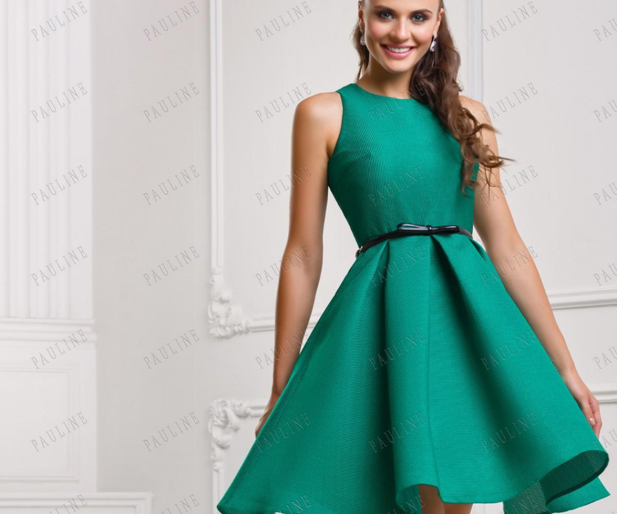 Зеленые платья с пышной юбкой