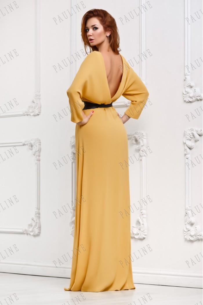 Длинное вечернее платье с открытой спиной КАДАНС