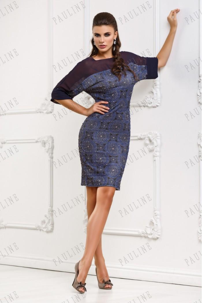Короткое платье с пайетками КИФАРА