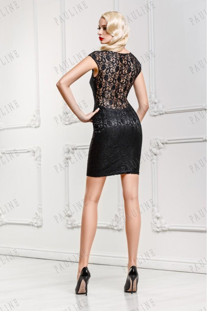 Короткое платье с открытой спиной МЕЙ