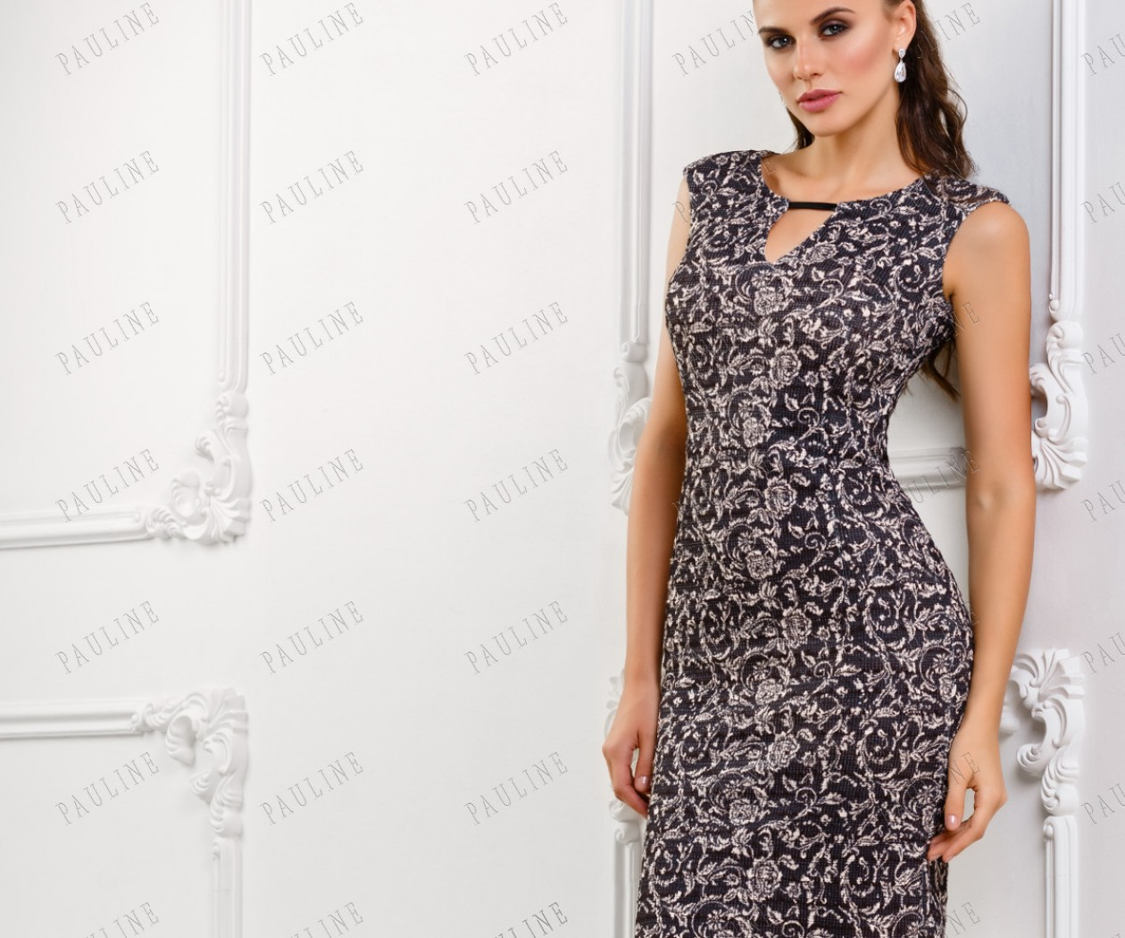 Женственное платье с цветочным рисунком ПИАНОЛА
