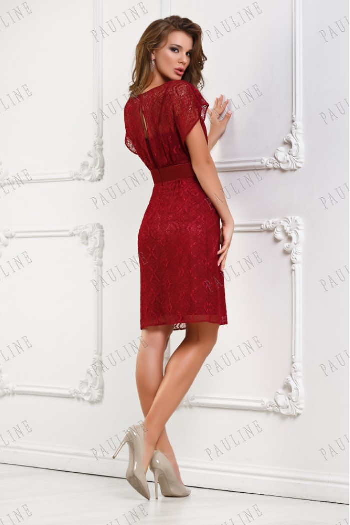 Ажурное короткое платье  УНИСОН