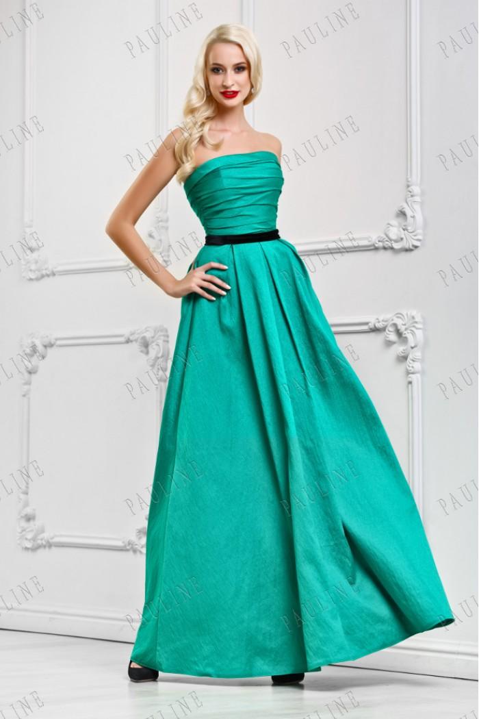 Длинное платье с корсетом ВИРТУОЗА