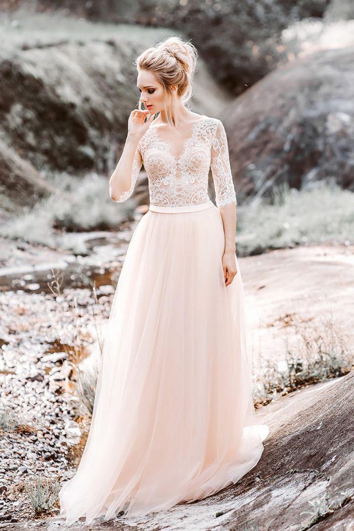 Свадебное платье в романтичном стиле Прованс ЭЛИСОН