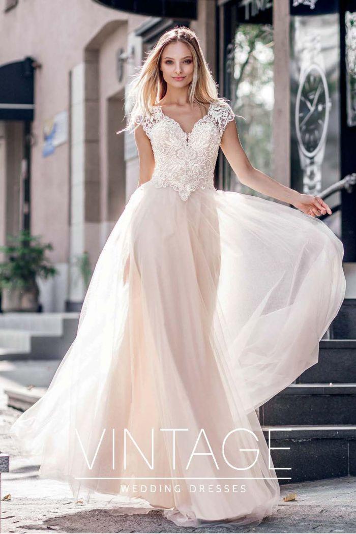 Изысканная модель свадебного платья в необычном исполнение МОРЕЛЛА